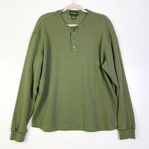 Eddie Bauer Mens Henley Neck Long Sleeve Shirt XL